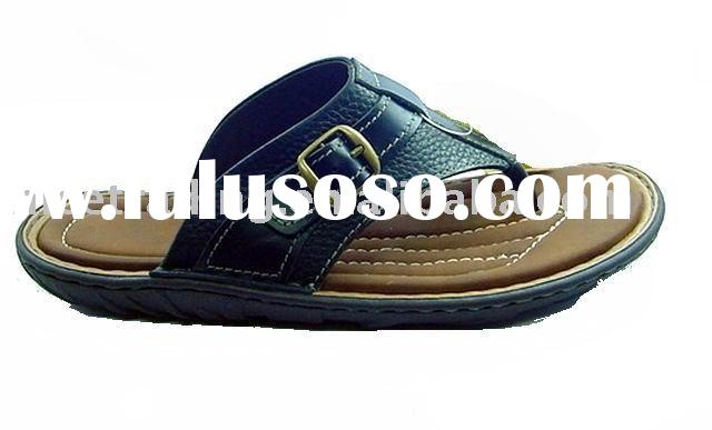 Men's casual shoes, men's leather slipper shoes