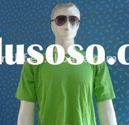 Men's green basic and casual style cotton short sleeve t-shirts