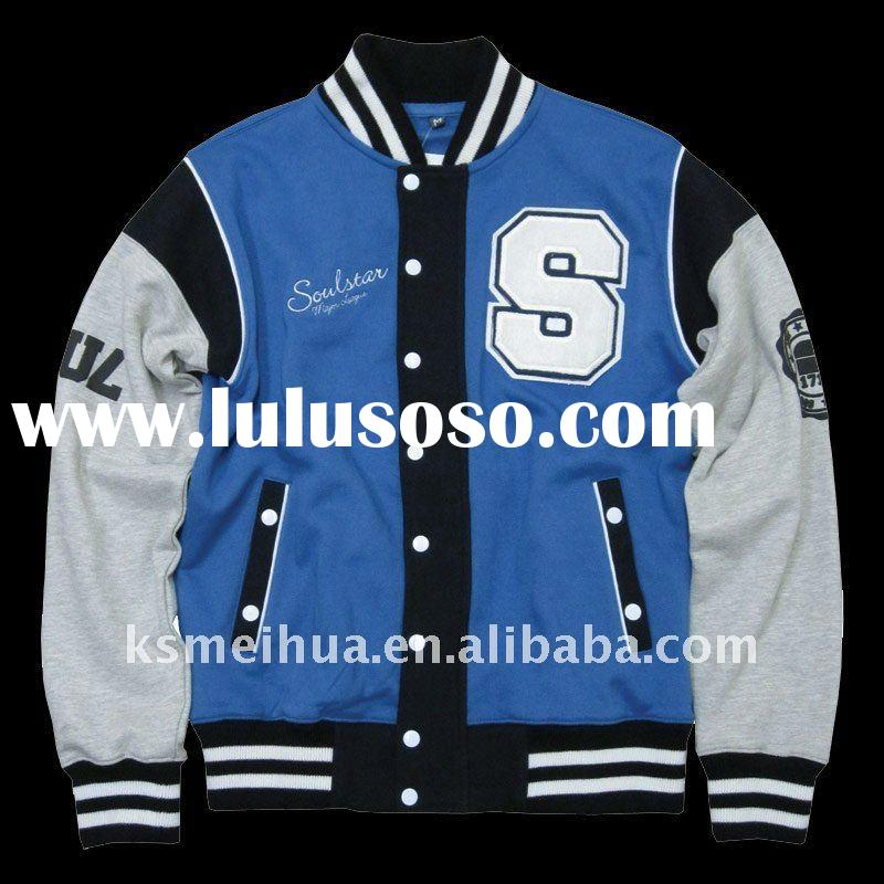 Mens Cotton Varsity Jacket