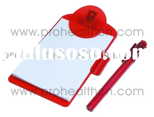 Mini clipboard with ball pen