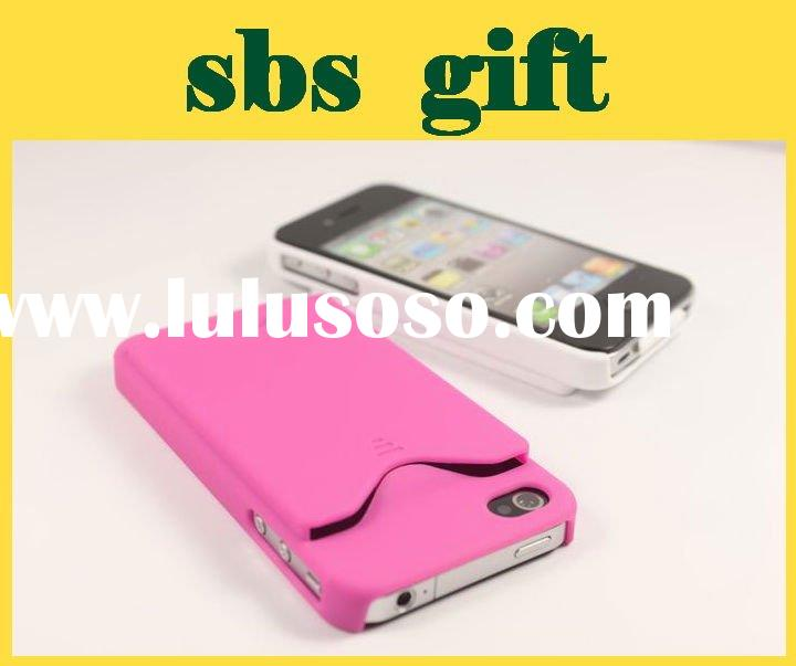 Mobile phone case for iphone 4g case with ID credit card slot holder