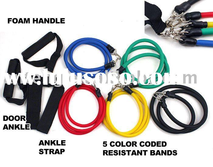 NEW 5 RESISTANCE BANDS SET for YOGA ABS WORKOUT