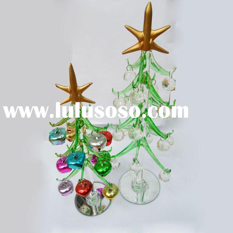 NEW Hand Blown Glass Christmas Tree & Gift Ornament