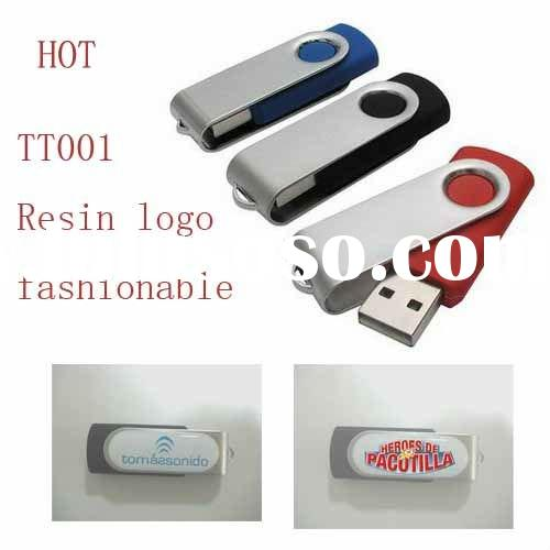 New swivel usb flash drive with epoxy logo and any color is available