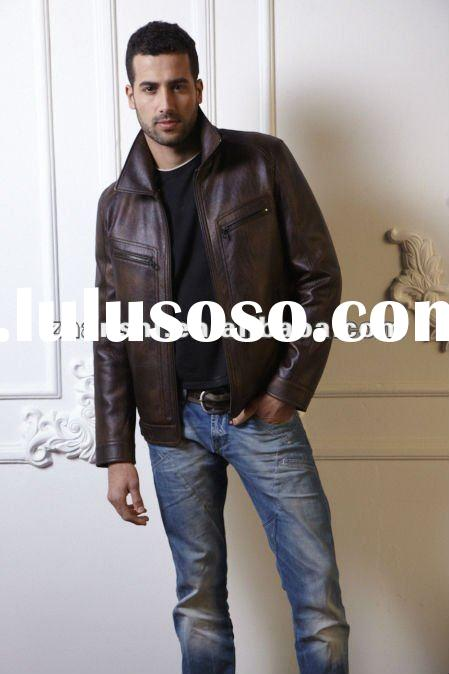 Guess Mens Leather Jacket Leather Jacket For Men