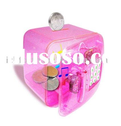Novelty musical coin bank with passwords; money box; saving box