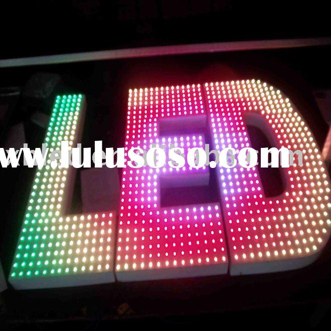 Outdoor RGB LED pixel light for color change letter----with drive IC