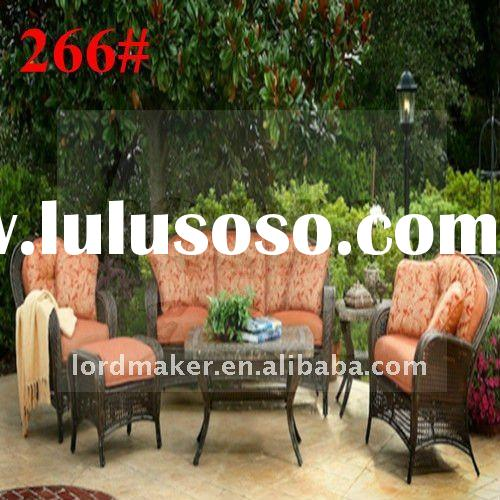 Outdoor rattan furniture garden furniture of wrought iron garden table and chairs (266#)
