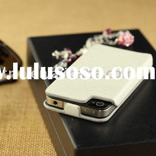 PU leather cell phone hard case for iPhone 4