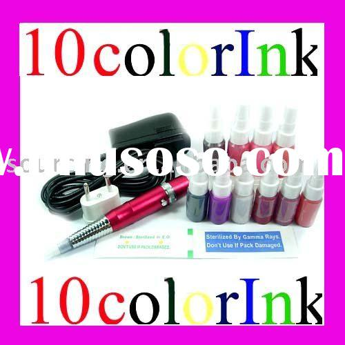 Permanent Makeup set/makeup Ink /red makeup pen/power/needles/ink sale