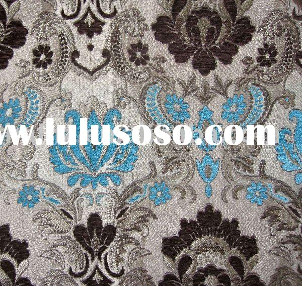 Polyester Chenille Jacquard Upholstery Fabric
