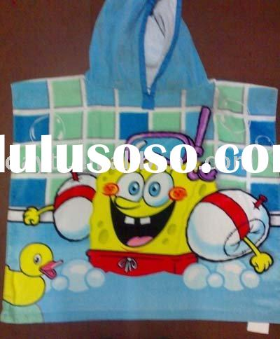 Power seller !Fashion Bath Towel Spongebob Beach Towel cotton towel cape towel A0240 wholesale