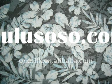 Printed cotton nylon fabric for dress/jackets