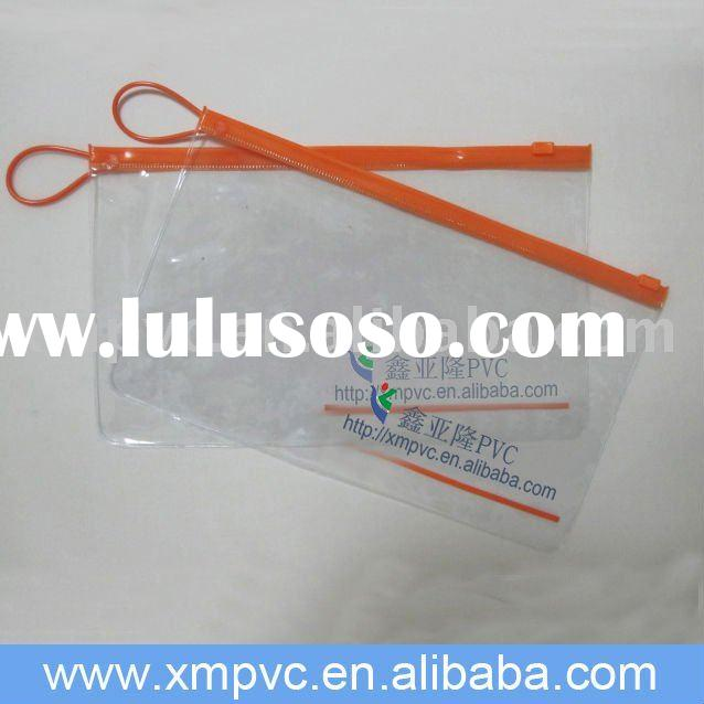 Pvc zipper lock bags with your logo for promotion D-Z064(1)