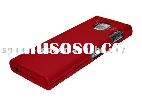Red Rubberized Hard Case Cover+Stylus Pen for LG BL40 New Chocolate