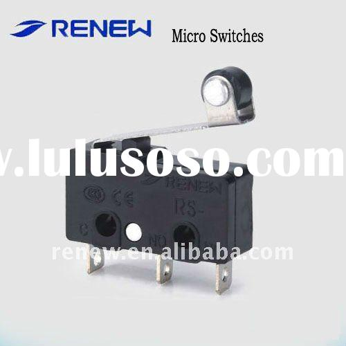 Roller lever type miniature micro switch,sensitive mini micro switch, 3 pins mini micro switch (for
