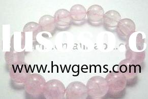 Rose quartz genuine stone bead, semi-precious gemstone beaded bracelet,loose gemstone bead 008