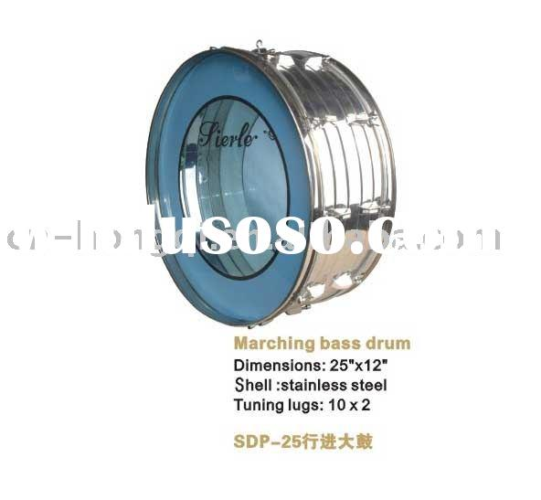 SIERLE SDP-25 Stainless steel marching bass drum