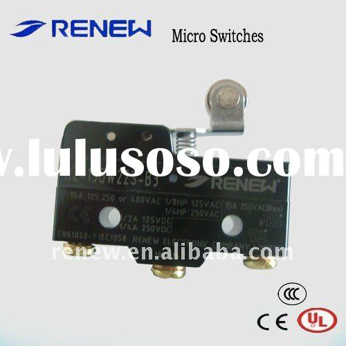 Short hinge STAINLESS STEEL roller lever Micro switch,basic switch, electronic micro switch ( North