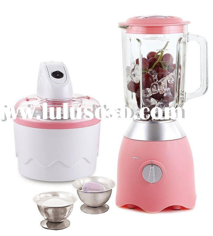 Single Ice Cream Maker/Electric Ice Cream Maker/Blender/Fun Cooking Set 2 in 1