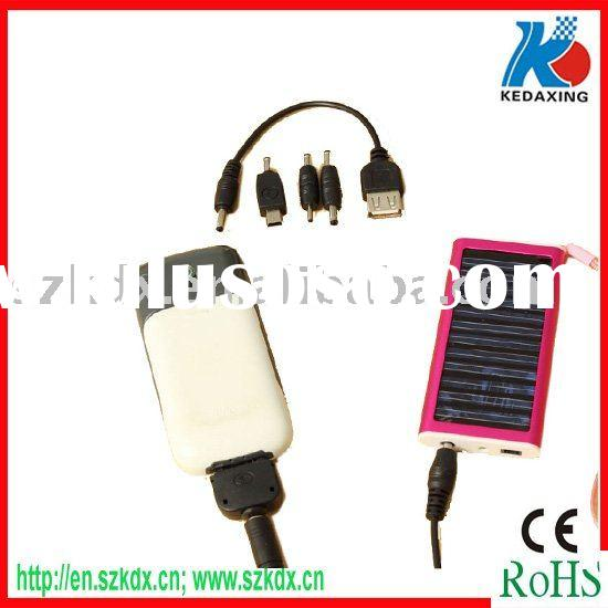 Solar charger with mini usb port chargeur solaire