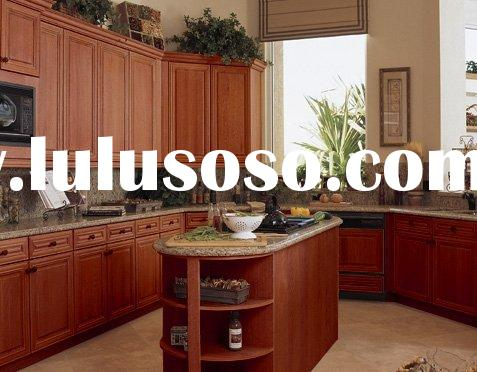 Solid Cherry Wood Kitchen Cabinets,Kitchen Furniture,Kitchen Cupboard,Kitchen Cabinetry with Man-Mad
