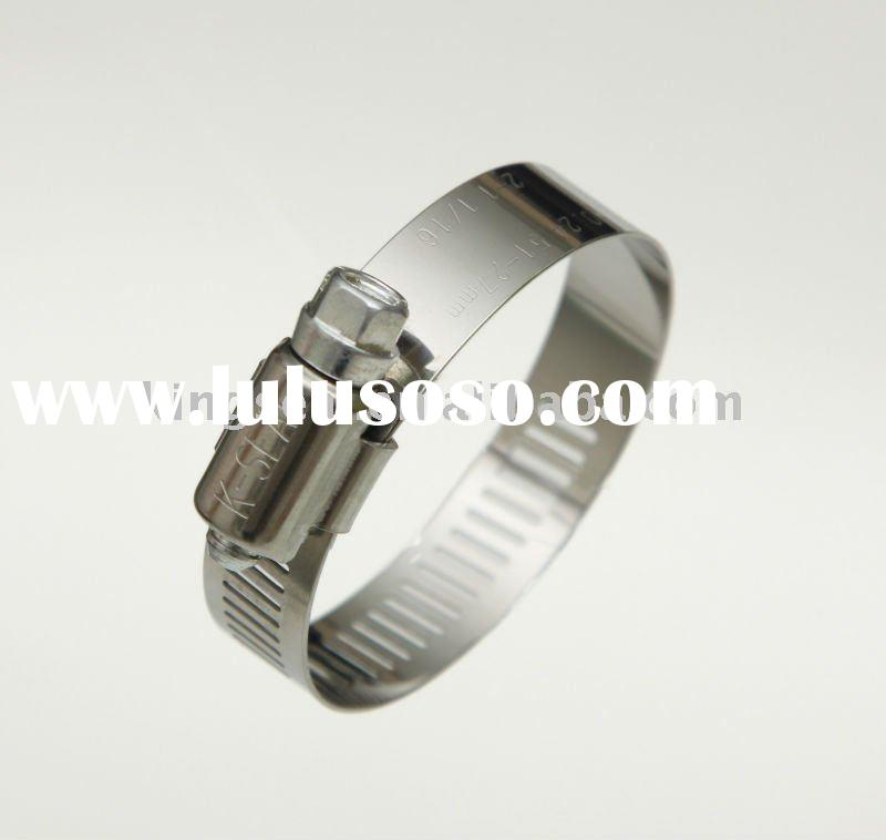 Stainless Steel American Type Worm Drive Hose Clamp fittings K52SS