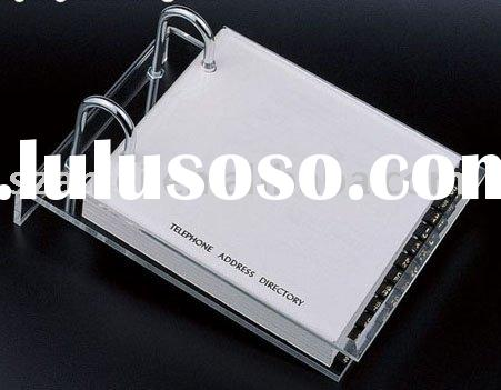 Telephone Address Pad,acrylic note paper holder,acrylic calendar stand