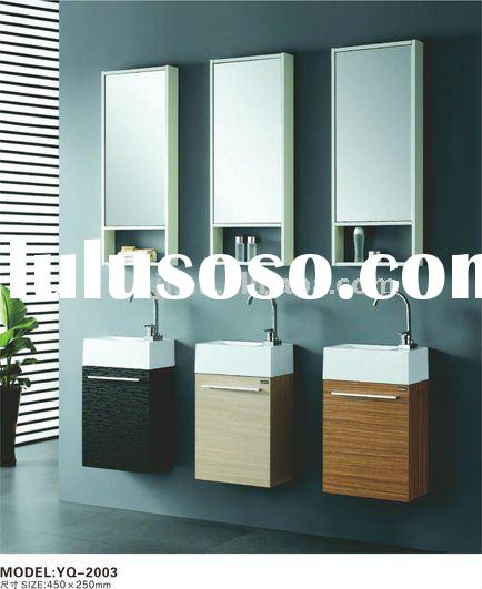 Three Small Melamine Bathroom Cabinets