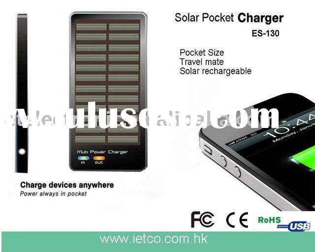 Universal Solar Battery Charger for iPhone/iPod,Blackberry, HTC, Nokia, Samsung, Sony Ericsson, LG e