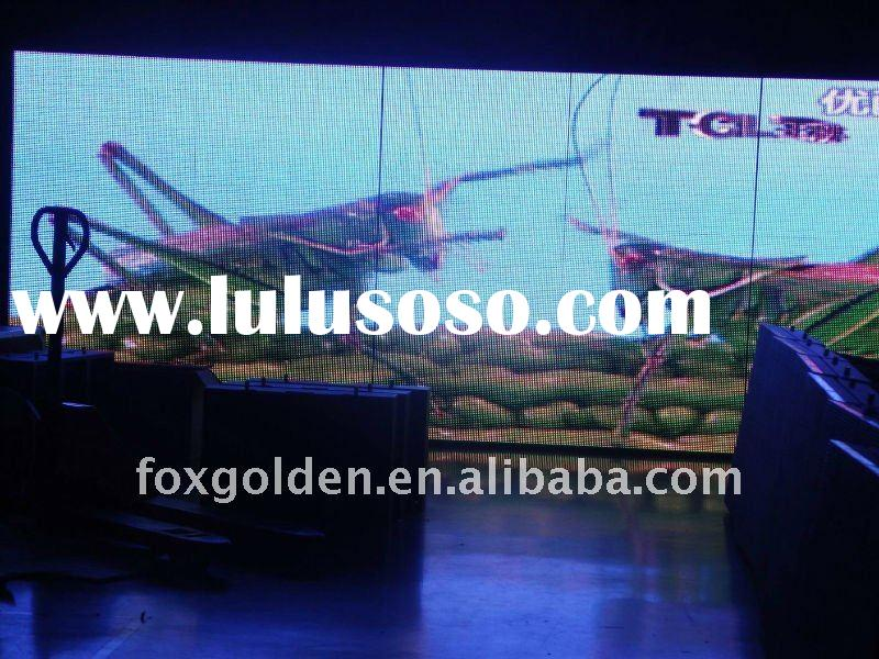 Waterproof P10 outdoor glass wall led screen advertising