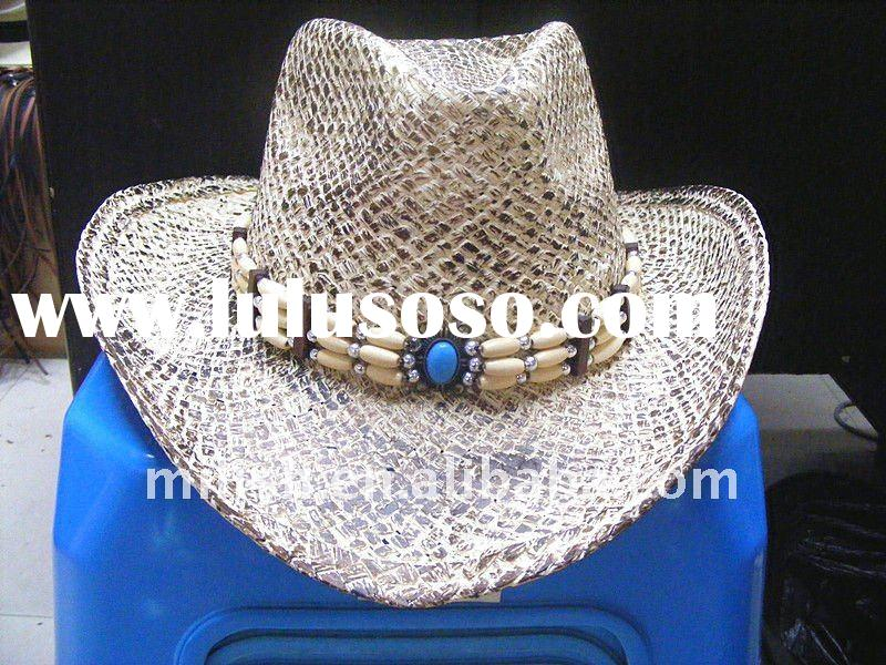 Wholesale adult cheap cowboy hat/straw cowboy hat/stetson MH-0378