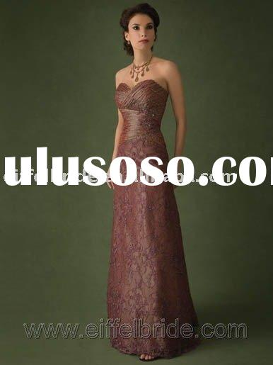XL-09249 evening dress hot sell Strapless and grasp folding evening gown formal lace evening dress