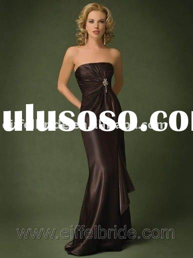 XL-09285 dark brown evening dress selling evening dress, evening gown, formal evening dress, evening