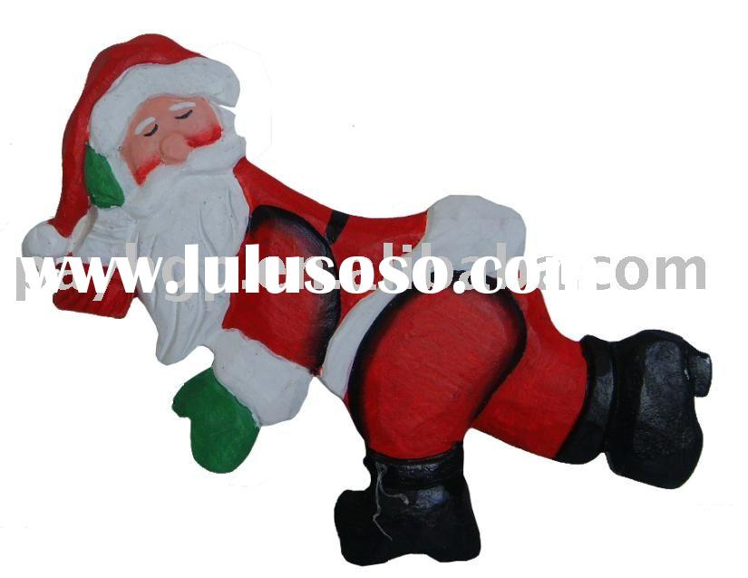 X'MAS decoration,Santa Claus,wood crafts,carved crafts