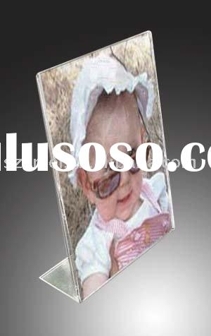 acrylic L shaped photo frame,acrylic picture frame