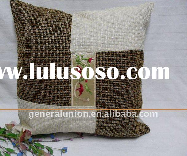 assorted colors linen oriental style embroidered square handmade cushion & cushion cover & p