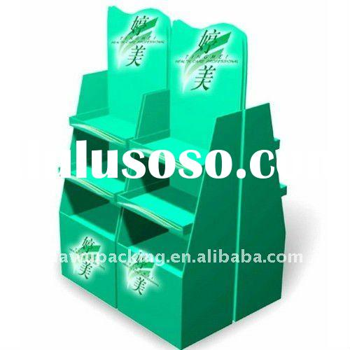 beauty cardboard pallet display stand for napkins' promotion .