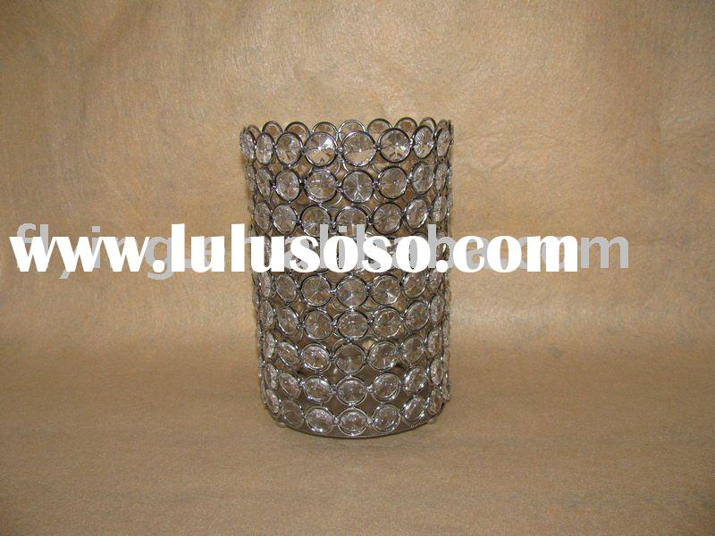 bling candle holder, bead candle holder, acrylic bead candle holder,
