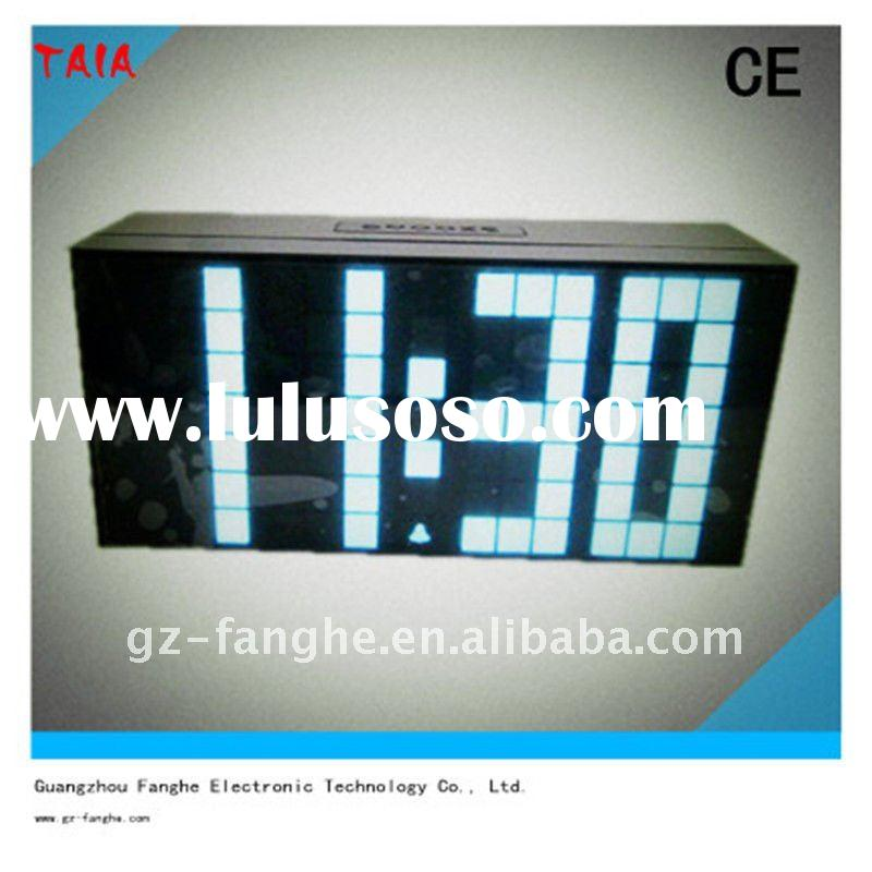 blue screen display indoor&outdoor LED alarm clock