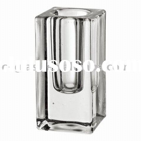 clear glass taper candle holder