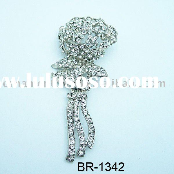costume brooch/diamante brooch/pin brooch/bouquet brooch/fashion accessories(BR-1342)