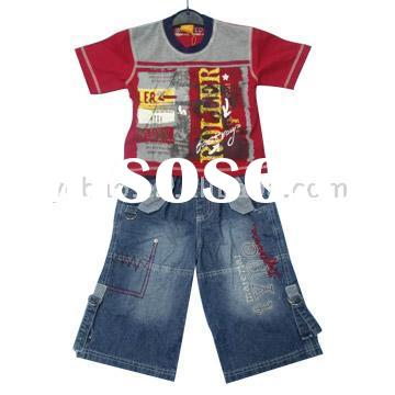 cotton summer boys wear clothing set for children