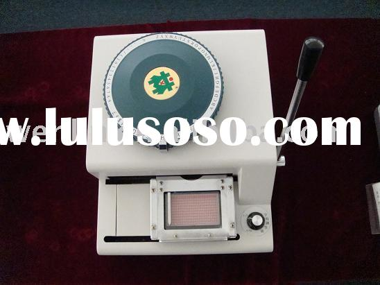 credit smart bank ATM PEC ABS RFID plastic PVC card embosser