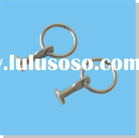 curtain accessory-Stainless steel Fixed loop-Curtain Rod ring clips for curtain rod