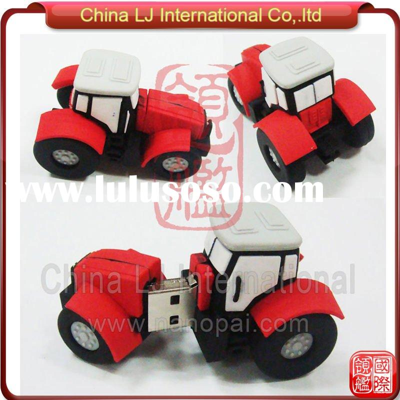 custom 3D tractor shape usb flash drive, tractor usb pen drive