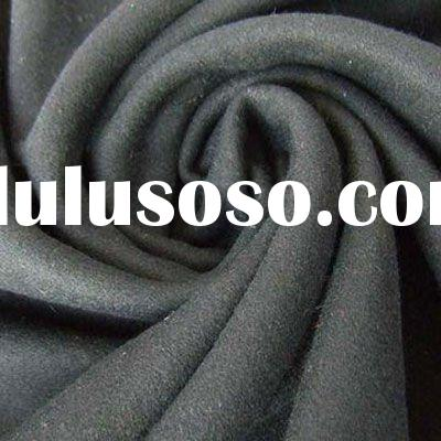 dark grey boiled wool fabric