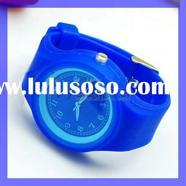 deep blue silicone watch wristband adjustable sport watch