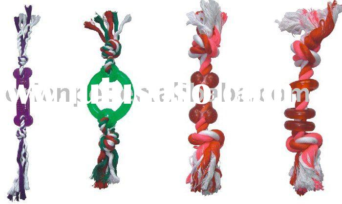 dog rope toy with plastic accessories
