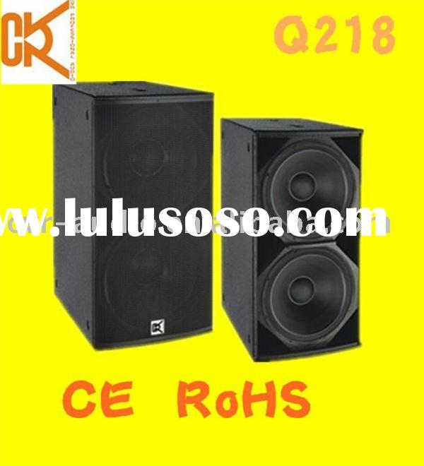 dual 18 inch professional subwoofer sub bass speaker